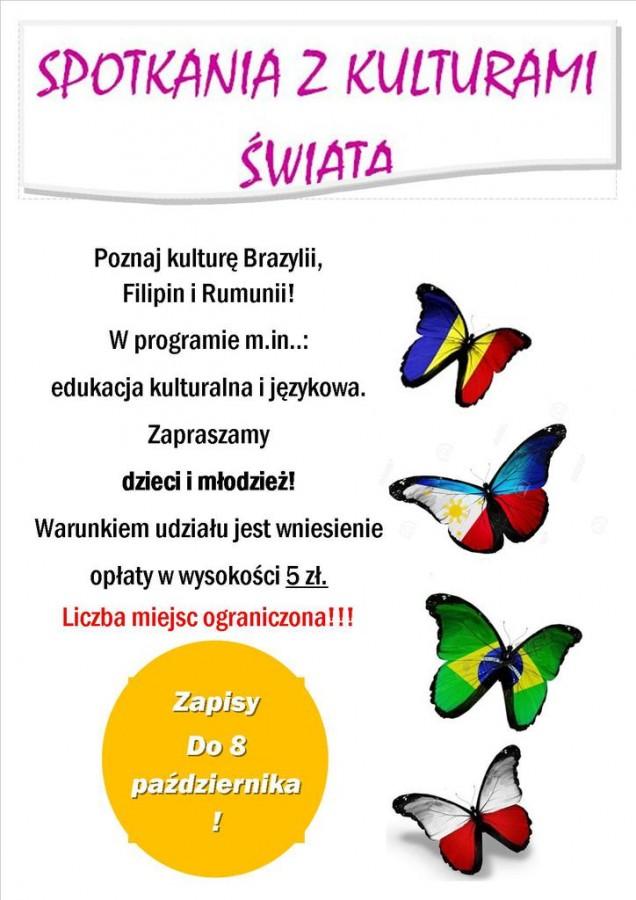 Spotkanie z kulturami świata - plakat